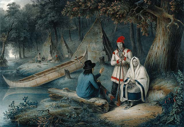 Indian Wigwam in Lower Canada 1848