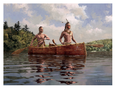 Lake of the Iroquois - Mohawk warriors journey through the Adirondack wilderness in an elm bark canoe